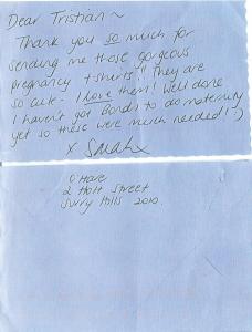 Thank You Note Sarah Murdoch